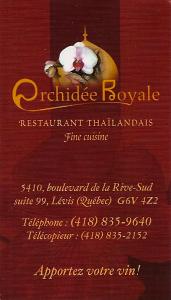 L'Orchidée Royale  ( Restau thailandais)