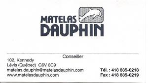 Matelas DAUPHIN -chanson $ 100