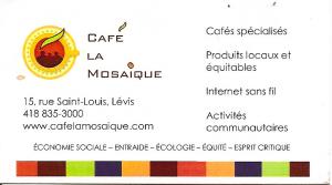 Café La Mosaique ? présenter prestation courte